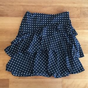 Ralph Lauren tiered ruffle polka dot skirt